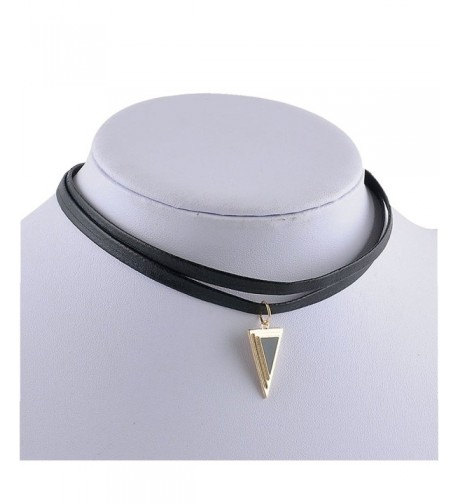 Kissweet Layered Leather Triangle Pendent