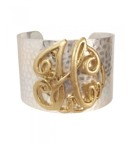 Hammered Boutique Monogram Initial Bracelet