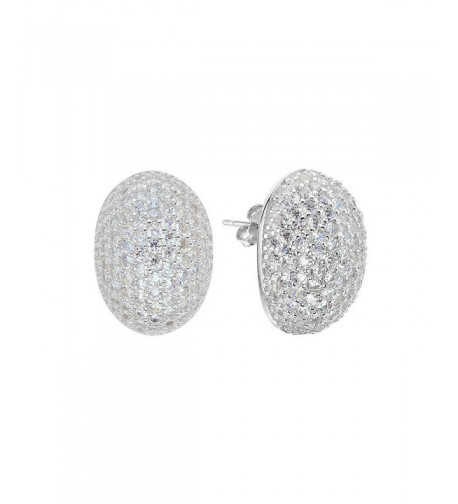 EVER FAITH Sterling Zirconia Earrings