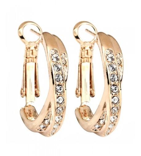 FC Zirconia Crystal Pierced Earrings