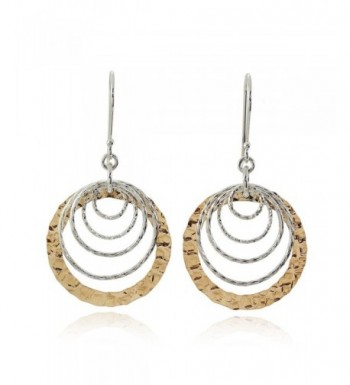 Graduated Earrings Sterling Cascading Circles