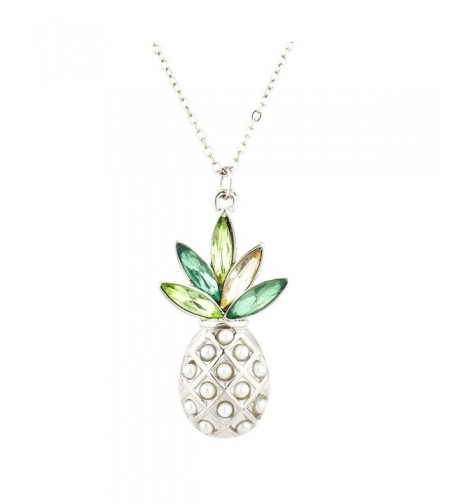 Lux Accessories PIneapple Pendant Necklace