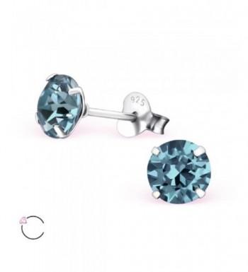 Sterling Sapphire Swarovski Crystals Earrings