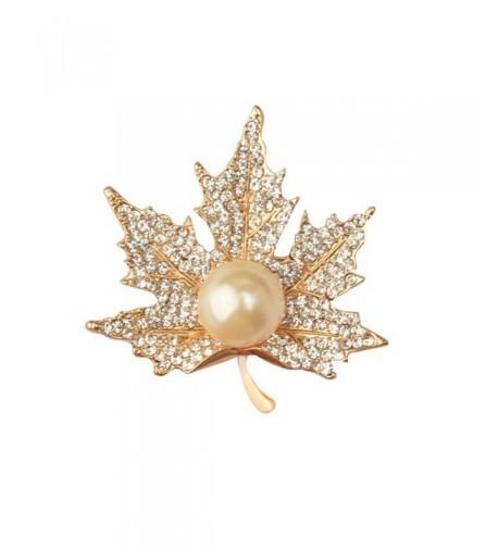 CHUYUN Graceful Pearl Maple Brooch