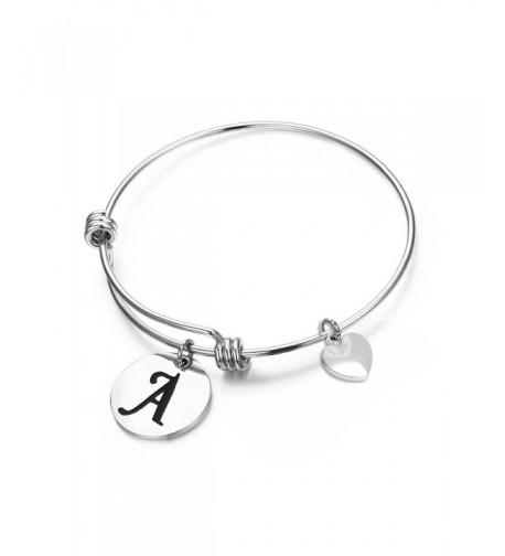 MAOFAED Initial Bracelet Personalized Jewelry