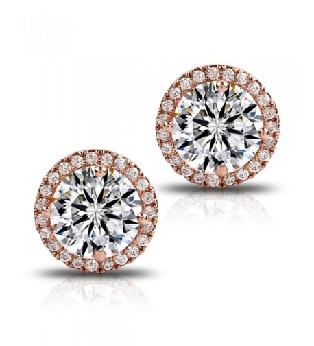 Gold Plated Cluster Round Earrings 1 66cttw