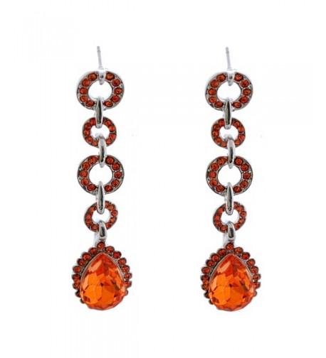Topwholesalejewel Fashion Padparadscha Teardrop Earrings