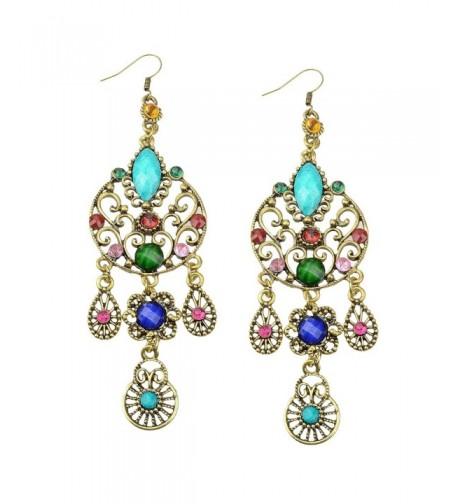 Earrings SUMAJU Teardrop Bohemian Multicolor