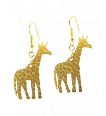 Maisha Trade Hammered Giraffe Earring