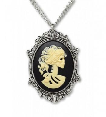 Gothic Lolita Pewter Pendant Necklace