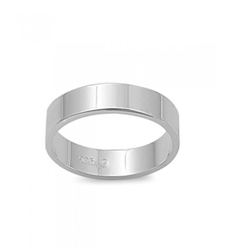 Cigar Wedding Plain Sterling Silver
