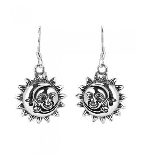 Glinting Celestial Sterling Silver Earrings