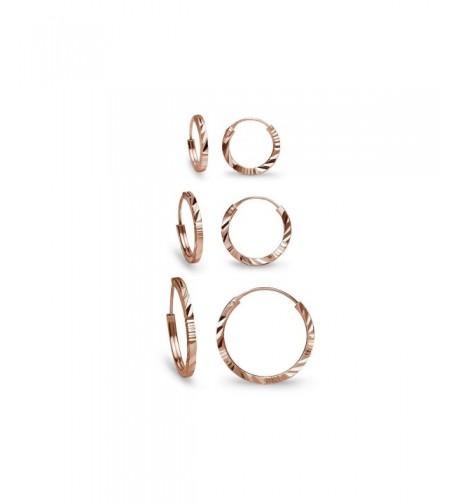 Sterling Silver Diamond Endless Earrings