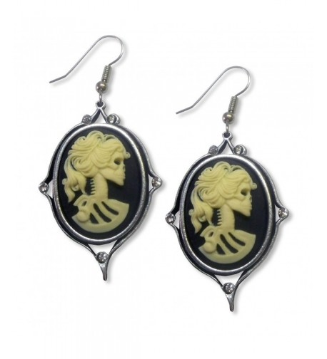 Gothic Lolita Earrings Austrian Crystals