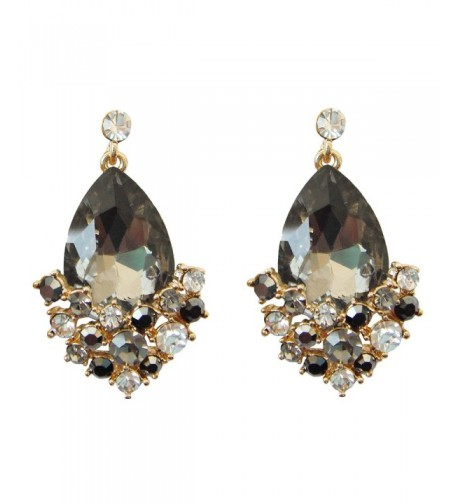 Navachi Crystal Pear shaped Zirconia Earrings