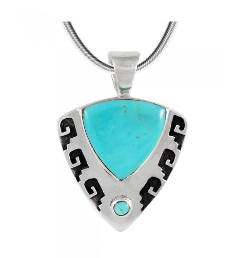 Turquoise Necklace Sterling different Triangle