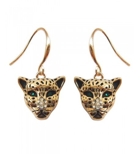 Navachi Cheetah Leopard Crystal Earrings