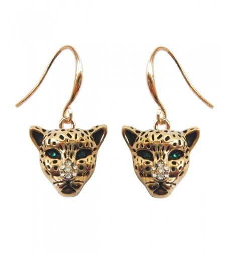 Navachi Cheetah Leopard Crystal Earrings