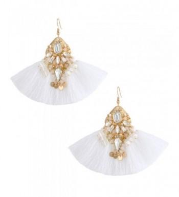 Boderier Statement Earrings Crystal Bohemian
