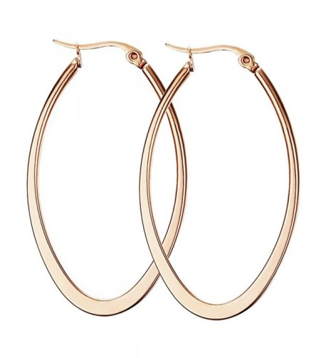 Weeno Stainless Flattened Earrings plated