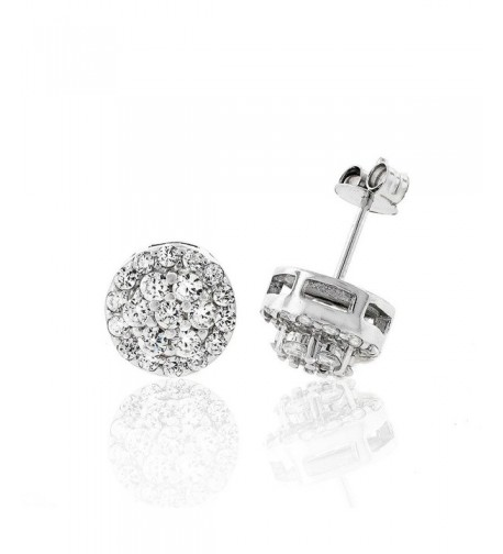 Sterling Silver Womens Zirconia Earrings