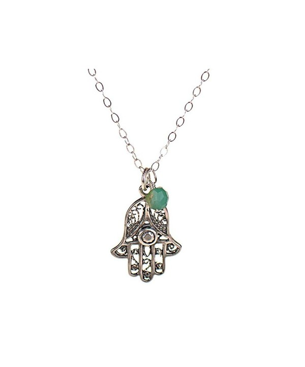 Sterling Silver Filigree Necklace Protection