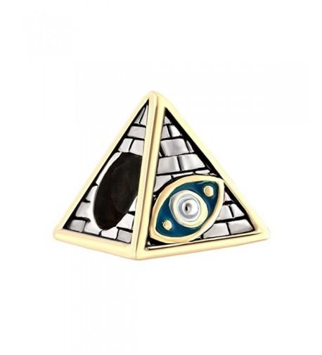 LovelyJewelry Antiqued Egyptian Pyramids Bracelet