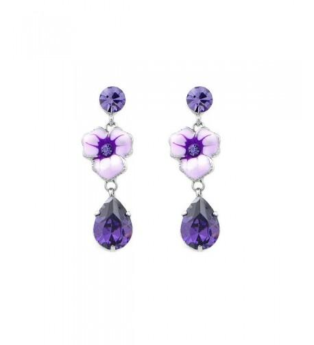 Glamorousky Earrings Austrian Element Crystal