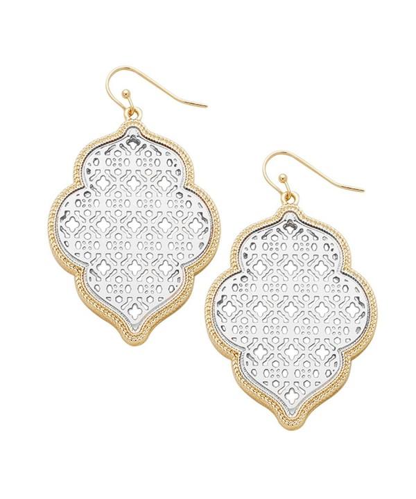 Rosemarie Collections Openwork Moroccan Earrings