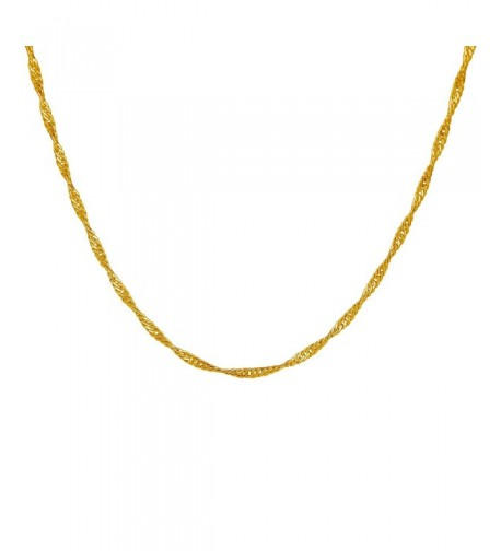 Plated Twisted Chain Necklace Inches