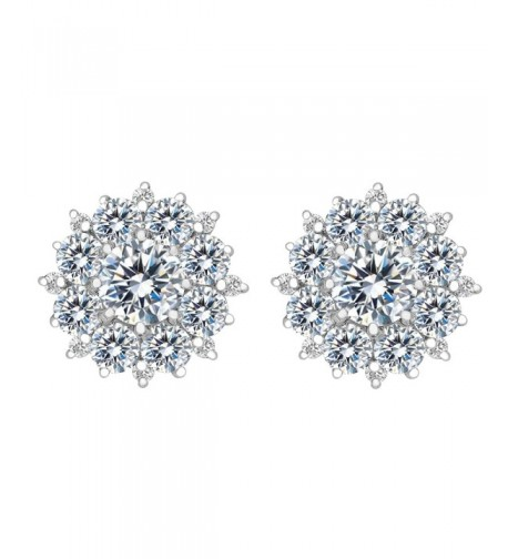 BriLove Sterling Silver Zirconia Earrings