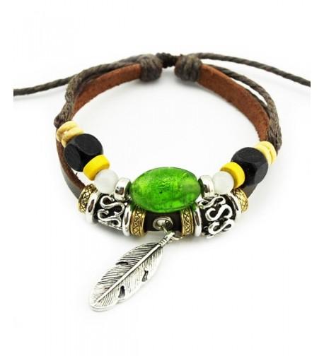 Real Spark Handmade Feather Bracelet