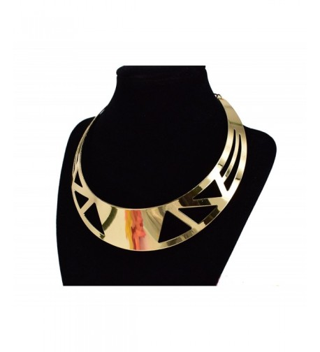 MOOCHI Plated Triangle Hollow Necklace