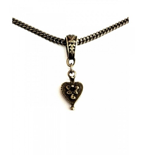 Vintage Heart Bronze Necklace Anniversary