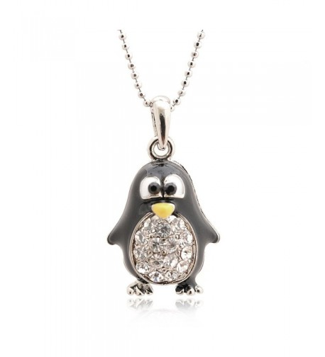 Spinningdaisy Silver Plated Penguin Necklace