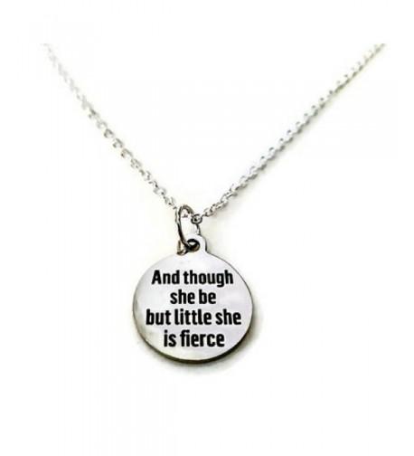 Though Little Fierce Inspirational Necklace