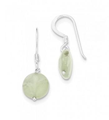 Jewelry Adviser Earrings Sterling Prehnite