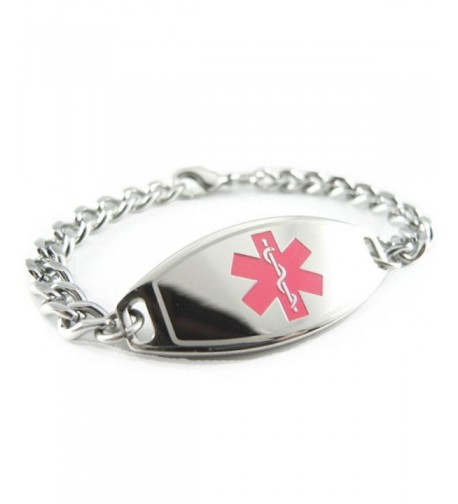 MyIDDr Pre Engraved Customized Allergy Bracelet