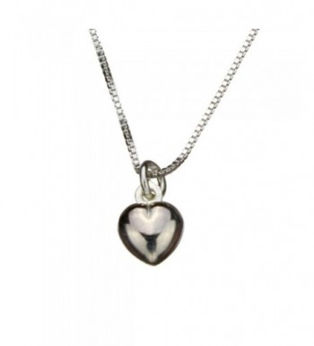 Sterling Silver Heart Nickel Necklace