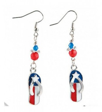 American Patriotic Dangle Earrings Jewelry
