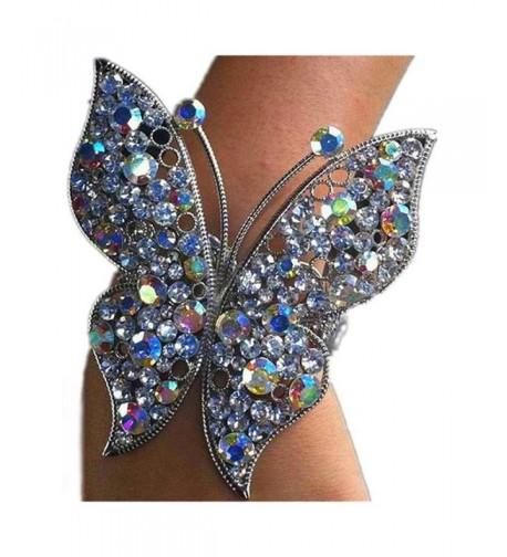 Colorful Butterfly Bracelet Rhinestone Statement