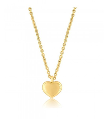 Heart Necklace Pendant Plated Extender
