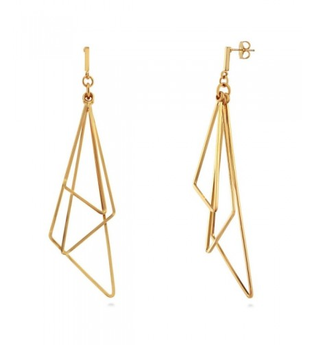 BERRICLE Triangle Fashion Statement Earrings