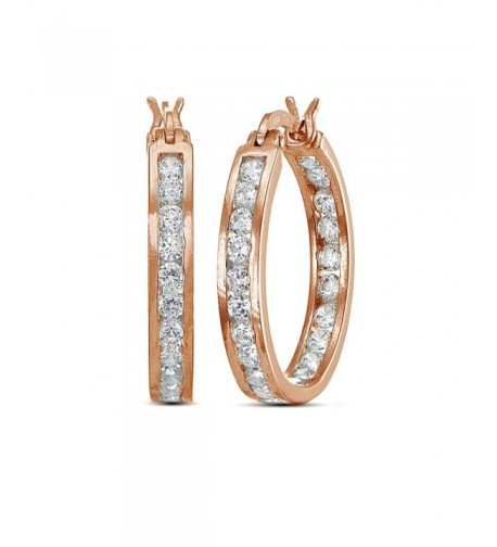 Flashed Cubic Zirconia Channel Set Earrings