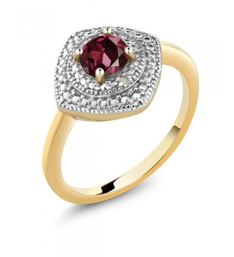 Rhodolite Garnet Accent Diamond Available