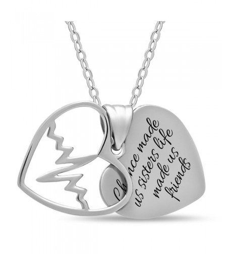 Sterling Silver Sister Necklace Forever