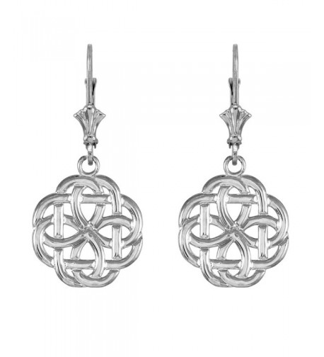 Sterling Triquetra Celtic Trinity Earrings