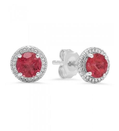 Sterling Silver Tourmaline Ladies Earrings