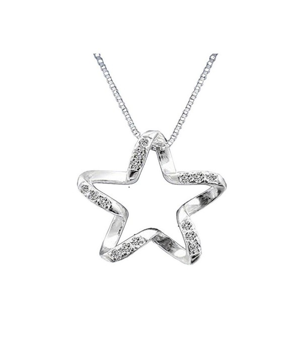 Sterling Silver Twisted Pendant Necklace