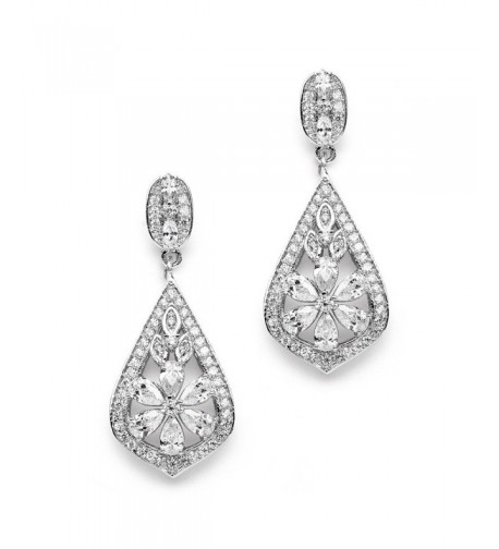 Mariell Vintage Designer Zirconia Earrings